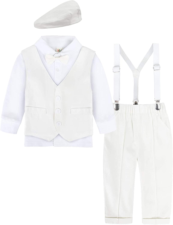 AJ DESIGN Baby Boys Outfits Set Lowest price challenge Shirt 4pcs Pa Gentleman Suit Manufacturer direct delivery