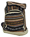 Mandala Tibetan Shop Large Hemp Backpack, Laptop Backpack, Bohemia Backpack