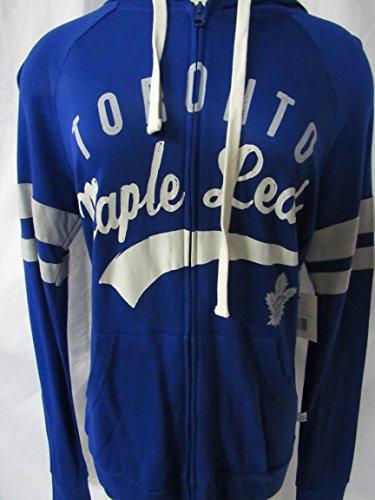 Toronto Maple Leafs Touch by Alyssa Milano Womens Size Medium Full Zip Intentionally Distressed Screen Printed Hoodie Sweatshirt ATML 5 M