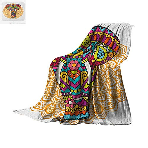 m Microfiber All Season Blanket Tribal Ethnic Rain Bringing Symbol of Good Luck Prosperity Hippie Design Summer Quilt Comforter 62