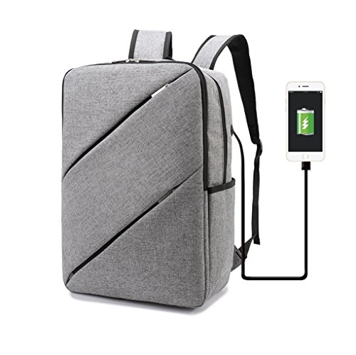 Weekend Shopper 15.6 inch Laptop Backpack College Backpack Laptop Bookbag Casual Daypack Lightweight Computer Backpack for Men and Women Grey