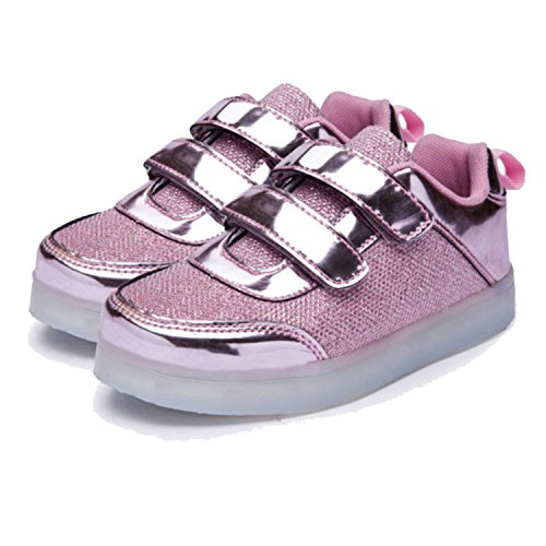 Climbing Shoe Spring (Breatable Kids Luminous Sneakers Spring Boys Girls Usb Charger Led Light Shoes Casual Shoes Unisex Sports For Children Same as picture2 11.5)