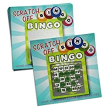 Scratch Off Bingo Game Cards for Party Favors Promotional & Fundraising Use- 25 Cards Kit for Guests My Scratch Offs, LLC by My Scratch Offs
