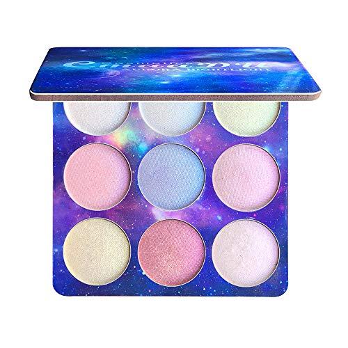 (CapsA CmaaDu 9 Colours Highlighter Eyeshadow Waterproof Long Lasting Highlight)