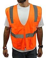 High Visibility 2 Pocket Safety Shirt Reflective NEW TCSV1 ORANGE Large