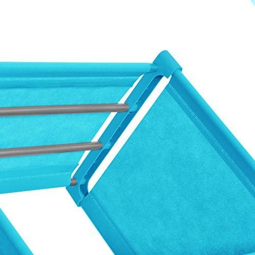 RYGHEWE 3-Tier Storage Cube Closet Organizer Shelf 6-Cube Cabinet Bookcase US Stock Blue