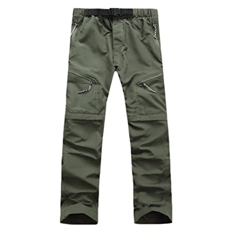 53b8828c9e Amazon.com : Men and Women Outdoor Detachable Quick Dry Hiking Pants Sports  Convertible Pant for Camping Trekking : Clothing