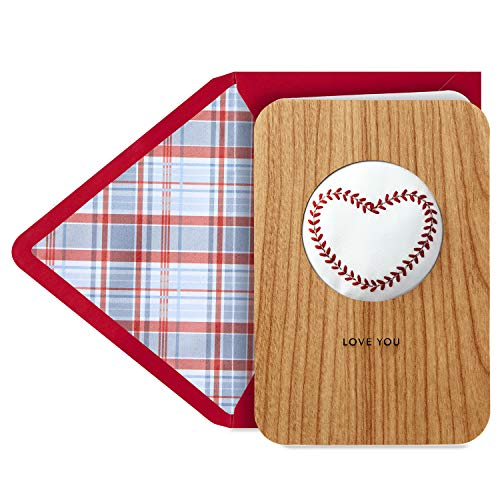 Hallmark Signature Wood Fathers Day Card (Baseball)