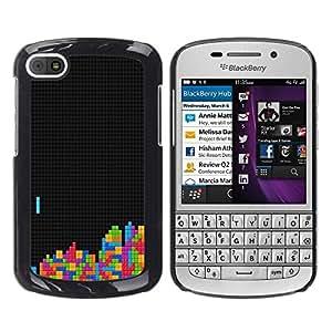 Be Good Phone Accessory // Dura Cáscara cubierta Protectora Caso Carcasa Funda de Protección para BlackBerry Q10 // Tetris Gaming Computer Retro Vintage Art Colors