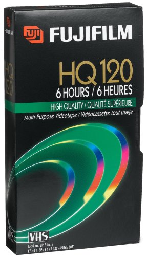 Fuji 23021121 HQ T-120 VHS Video Cassette (Discontinued by Manufacturer)
