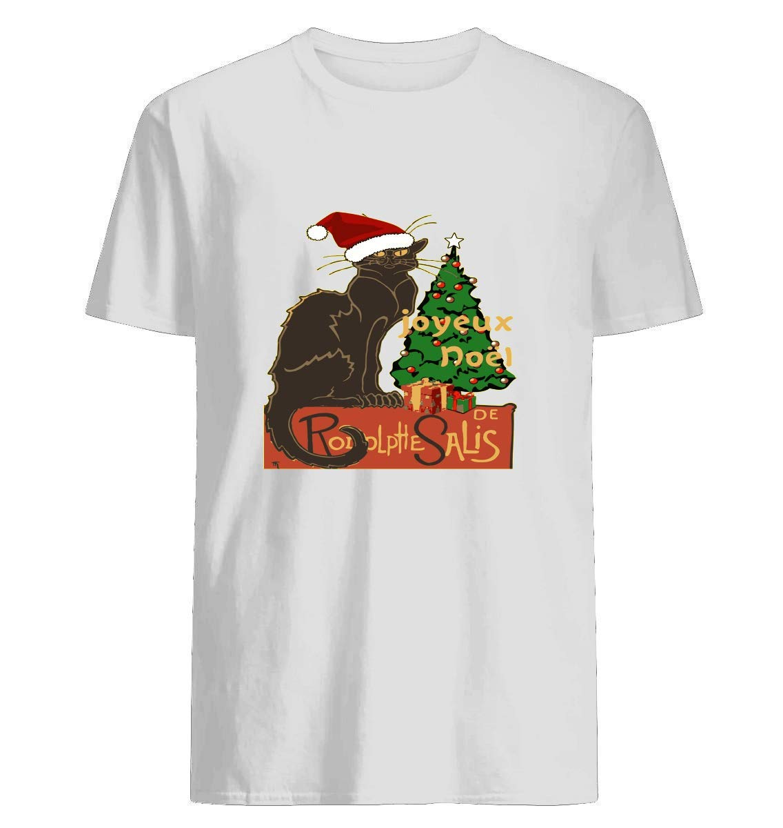 Joyeux Noel Le Chat Noir With Tree And Gifts Nothing Deted A For A Gift Shirts
