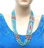 Viva Handmade Fashion Jewelry Amazing Designed Turquoise RED Blue Color Beaded Layered Necklace