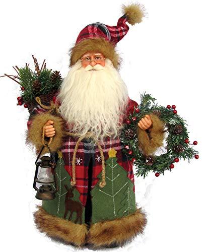Santa's Workshop Plaid Wilderness Claus Figurine 15