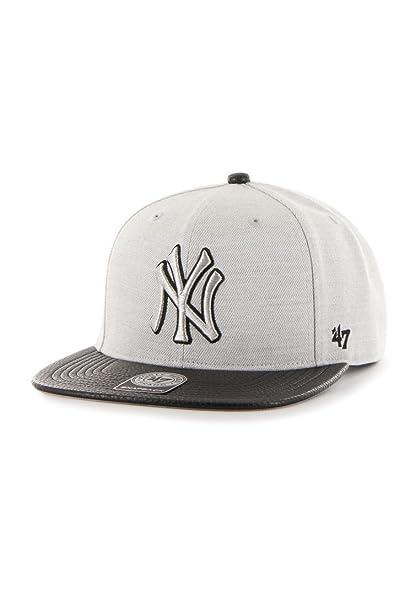 Gorra 47 Brand - Mlb New York Yankees Snapback gris/negro talla: OSFA (Talla única para todos sexos): Amazon.es: Ropa y accesorios