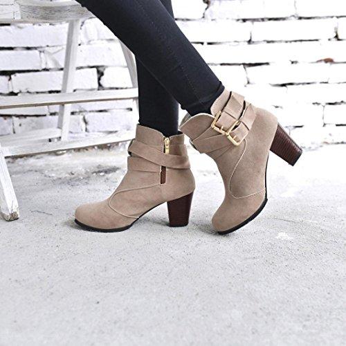 (Hemlock Ankle Boots Women, Ladies Winter Dress Boots Zipper High Heels Booties Shoes Pointed Top Boots)