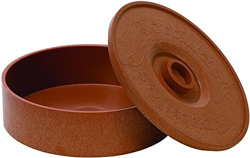 (Mexican Style Tortilla Basket Warmer Keeper 8.5-inch Brown Terracota Flat Bread Pita Naan)