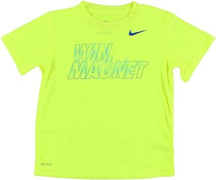 Win Magnet T Shirt Neon Yellow