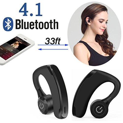 Dreamyth New Dual Wireless True Twins Bluetooth Stereo Headset in-Ear Earphones HD MIC (Black)