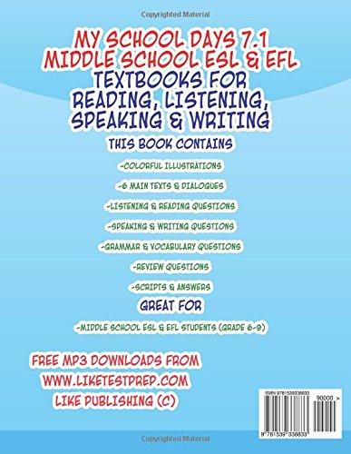 My School Days 71 Middle School Esl Efl Middle School Esl Efl