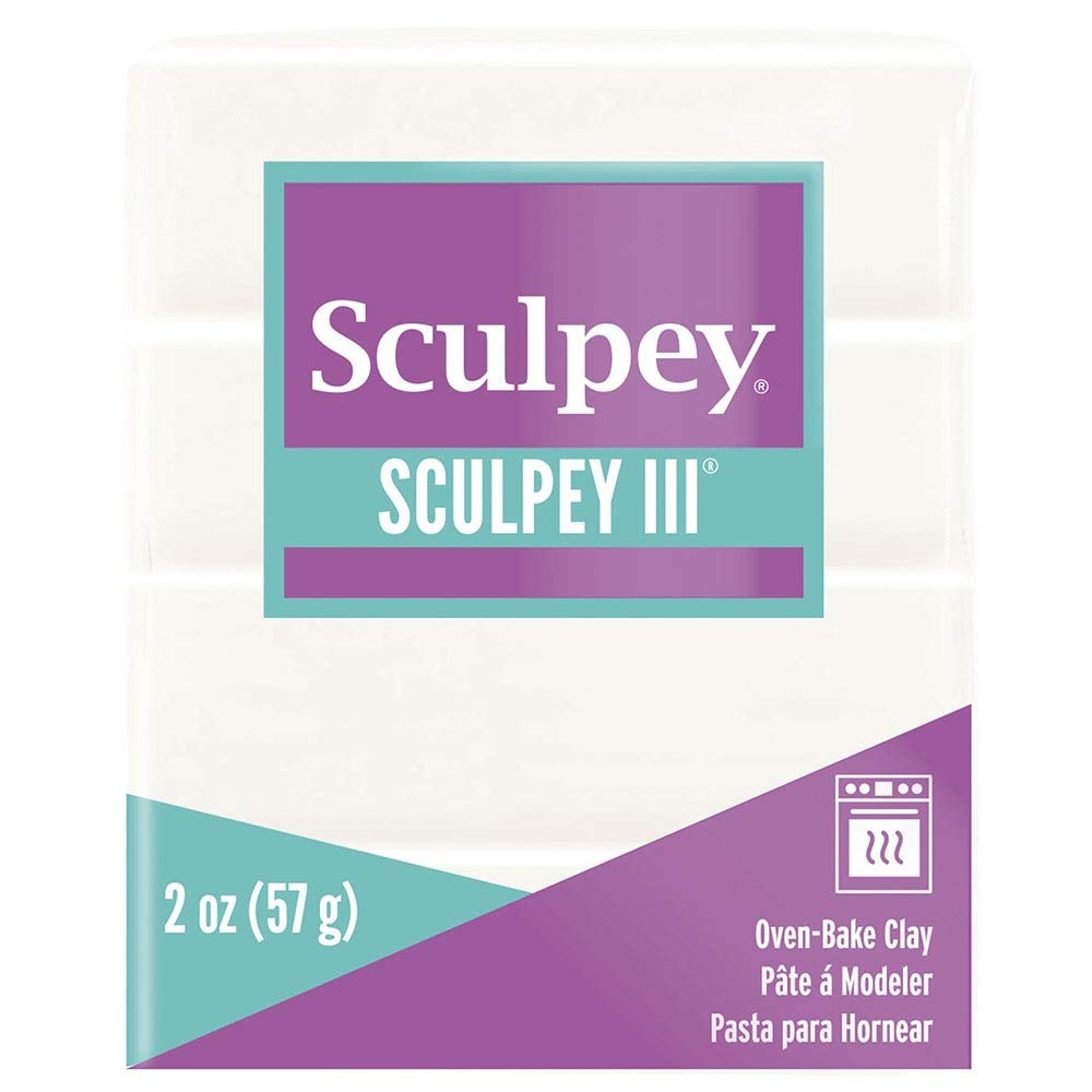 Polyform S302-001 Sculpey-3 Polymer Clay, 2-Ounce, White