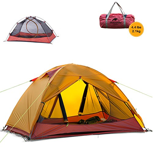 Naturehike Lightweight 2 Person 3 Season Camping Dome Tent, Ultralight...