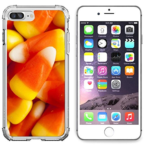 Luxlady Apple iPhone 6 Plus iPhone 6S Plus Clear case Soft TPU Rubber Silicone Bumper Snap Cases iPhone6 Plus iPhone6S Plus IMAGE ID 31672734 Colorful Candy Corn for Halloween on a Background -