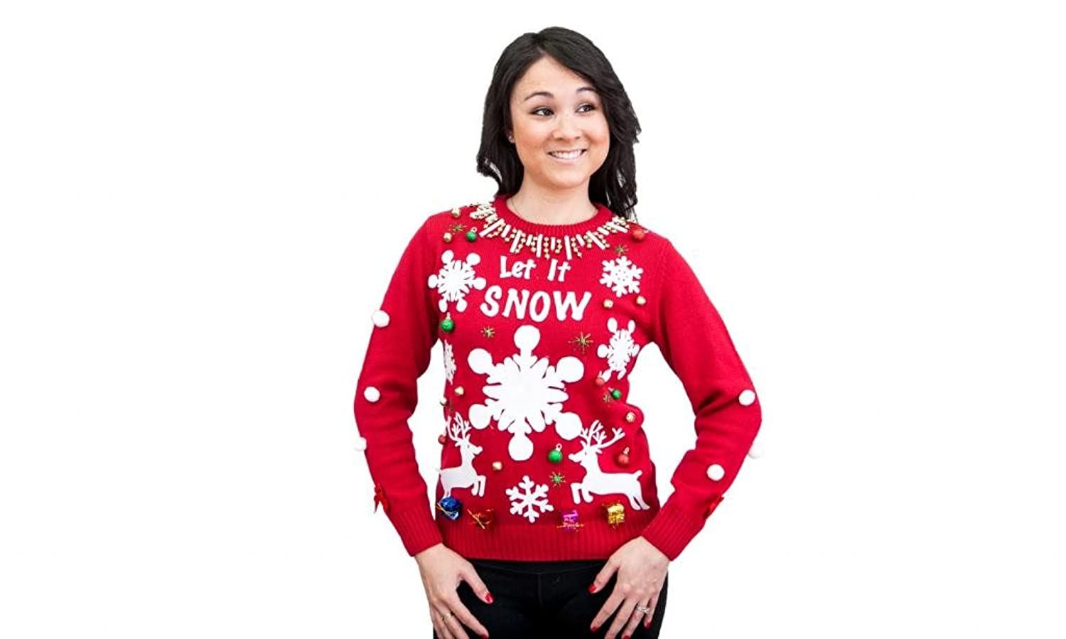 Amazon.com: Make Your Own Ugly Christmas Sweater Red Sweater Kit ...