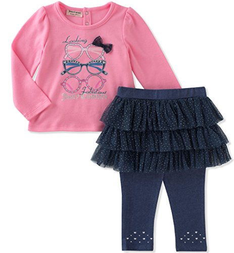 Juicy Couture Girls' Baby Skegging Set, Romantic Rose/core