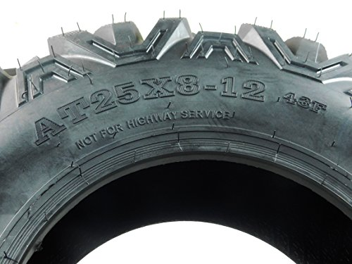 4 New 25x8-12 25x10-12 KT MASSFX TIRE SET ATV TIRES 6 PLY 25'' 25x8x12 25x10x12 by MASSFX (Image #2)