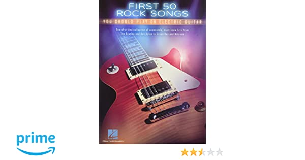 First 50 Rock Songs You Should Play On Electric Guitar: Amazon.es: Hal Leonard Publishing Corporation: Libros en idiomas extranjeros