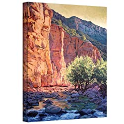 Art Wall The West Fork Gallery Wrapped Canvas Art By Rick Kersten, 32 By 24-inch