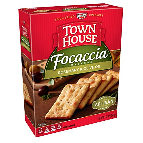Keebler, Town House Focaccia, Crackers, Rosemary and Olive Oil, 9 oz