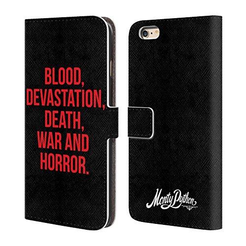 Officiel Monty Python Guerre De Mort De Dévastation De Sang Et Horreur Art Clé Étui Coque De Livre En Cuir Pour Apple iPhone 6 Plus / 6s Plus