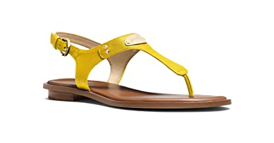 9233e915101 Image Unavailable. Image not available for. Color  Michael by Michael Kors  MK Plate Thong Yellow 5.5