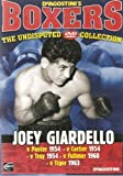 BOXING - JOEY GIARDELLO v PANTER 1954, CARTIER 1954, TROY 1954, FULLMER 1960, TIGER 1963 - VERY COLLECTABLE NOW DAYS AND BECOMING VERY HARD TO FIND - NEW AND SEALED - VERY RARE IN THIS CONDITION