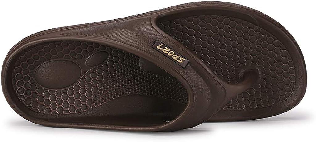 Tongs Piscine Hommes,Chaussures de Plage /Ét/é Plates Mules Sports Antid/érapantes Semelles /Épaisse Sandales Bout Ouvert Confortable Pantoufles Pas Cher