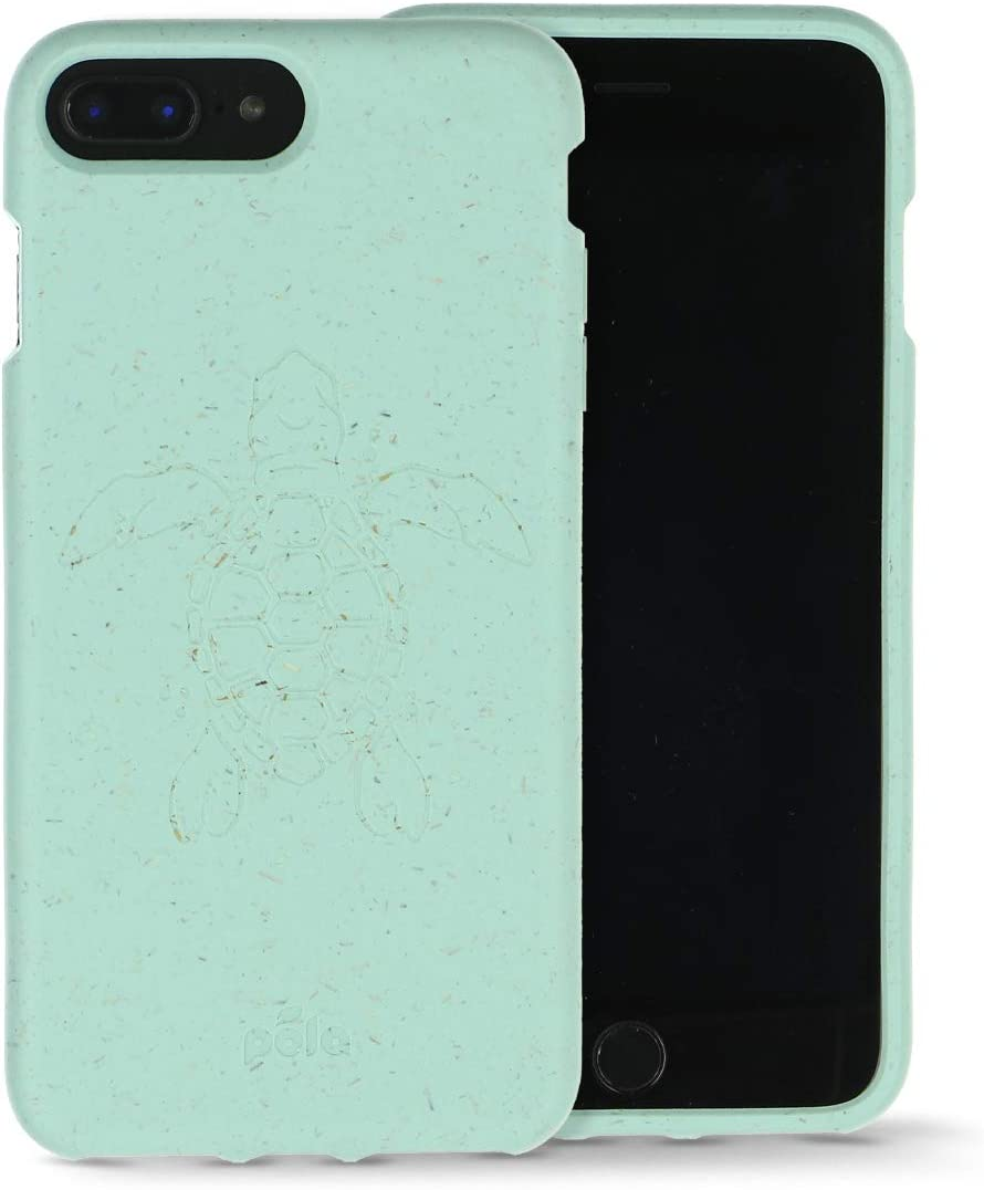 Pela: Phone Case for iPhone Plus 6+/6s+/7+/8+ - Compostable Alternative to Traditional Plastics - No Phthalates or BPA - Precise Cuts for Charger, Speakers, Volume and Power Buttons
