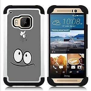 "Hypernova Híbrido Heavy Duty armadura cubierta silicona prueba golpes Funda caso resistente Para HTC One M9 /M9s / One Hima [Divertido Fly""]"