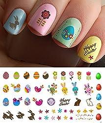 Easter Nail Decals Assortment #1 Water Slide Nail Art Decals - Salon Quality 5.5 X 3 Sheet!