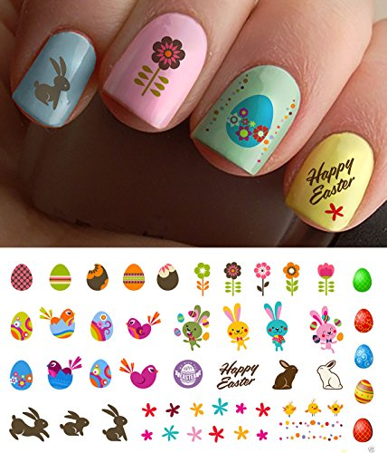 Easter Nail Decals Assortment #1 Water Slide Nail Art Decals - Salon Quality!