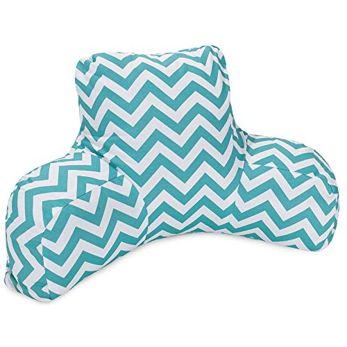 Majestic Home Goods Chevron Reading Pillow, Teal