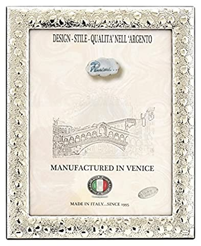 POIS Photo Frame Picture Frame Silver Original Made in Italy Venice Photo ca. 7x9 Inch