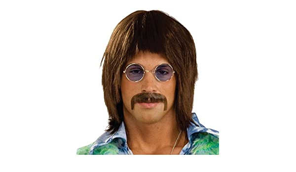 NEW HIPPY LENNON BROWN WIG 60S FANCY DRESS MENS (peluca): Funshack: Amazon.es: Juguetes y juegos