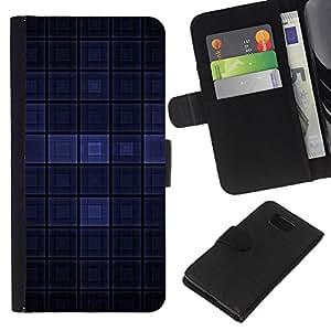 KLONGSHOP // Tirón de la caja Cartera de cuero con ranuras para tarjetas - Dark Blue Modern Wallpaper cuadros Square - Samsung ALPHA G850 //