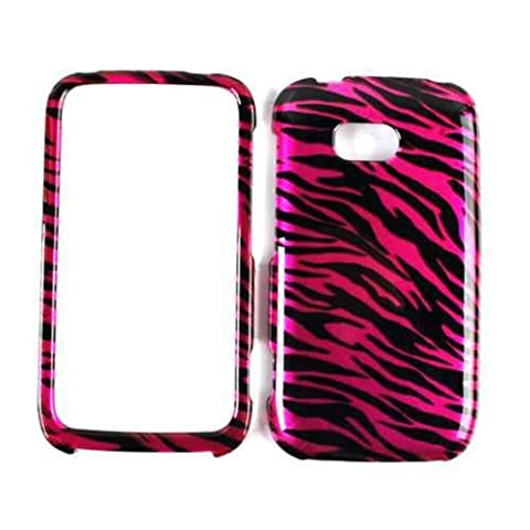 Cell Armor Snap Case for Nokia Lumia 822 - Retail Packaging - A Transparent Design, Hot Pink Zebra (Nokia Lumia 822 Jelly Case)