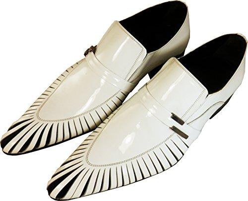 Original Chelsy - Italienischer Slipper mit Haifisch-Kiemen Design in weiß Shark White Herren