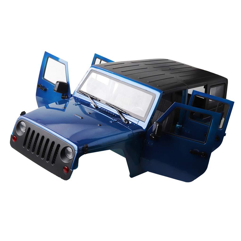 Homyl Crawler 313mm Shell Körper Körper Körper Ersatzteile für 1/10 Axial SCX10 RC4WD D90 D110 Crawler - Blau f80963