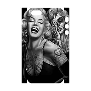 Cool Painting Marilyn Monroe Unique Design 3D Cover Case for Iphone 5,5S,custom cover case case-345617 Kimberly Kurzendoerfer