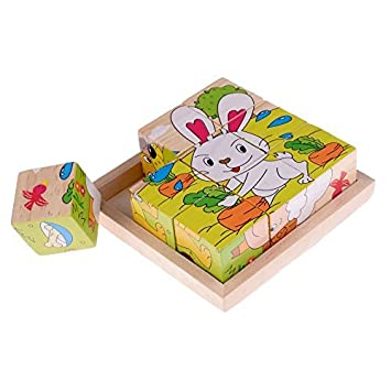 Wooden Dairy Cow Jigsaw Blocks Toys For Kids