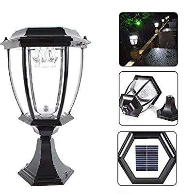 TBvechi LED Lights, Solar Column Light Waterproof Garden Light LED Solar Garden Outdoor Ground Light Waterproof Landscape